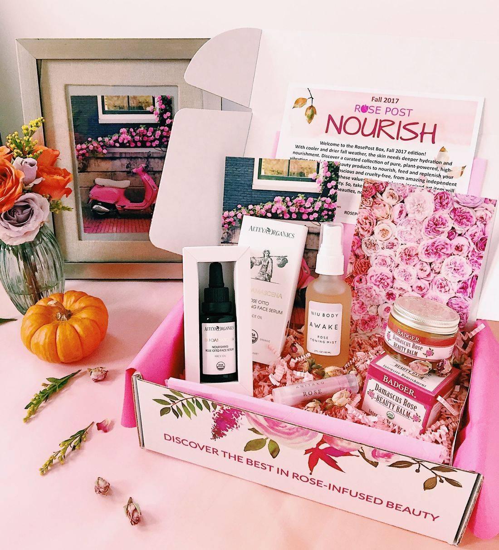RosePost Box, RosePost Box Fall 2017, RosePost Subscription Box, Bulgarian Rose Oil, Clean Beauty Box, Eco subscription box