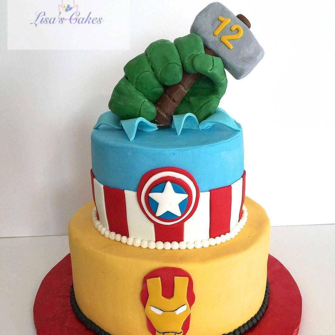 Avengers Birthday Cake Iron Man Hulk Captain America