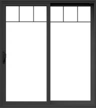 patio sliding Glass Door Black