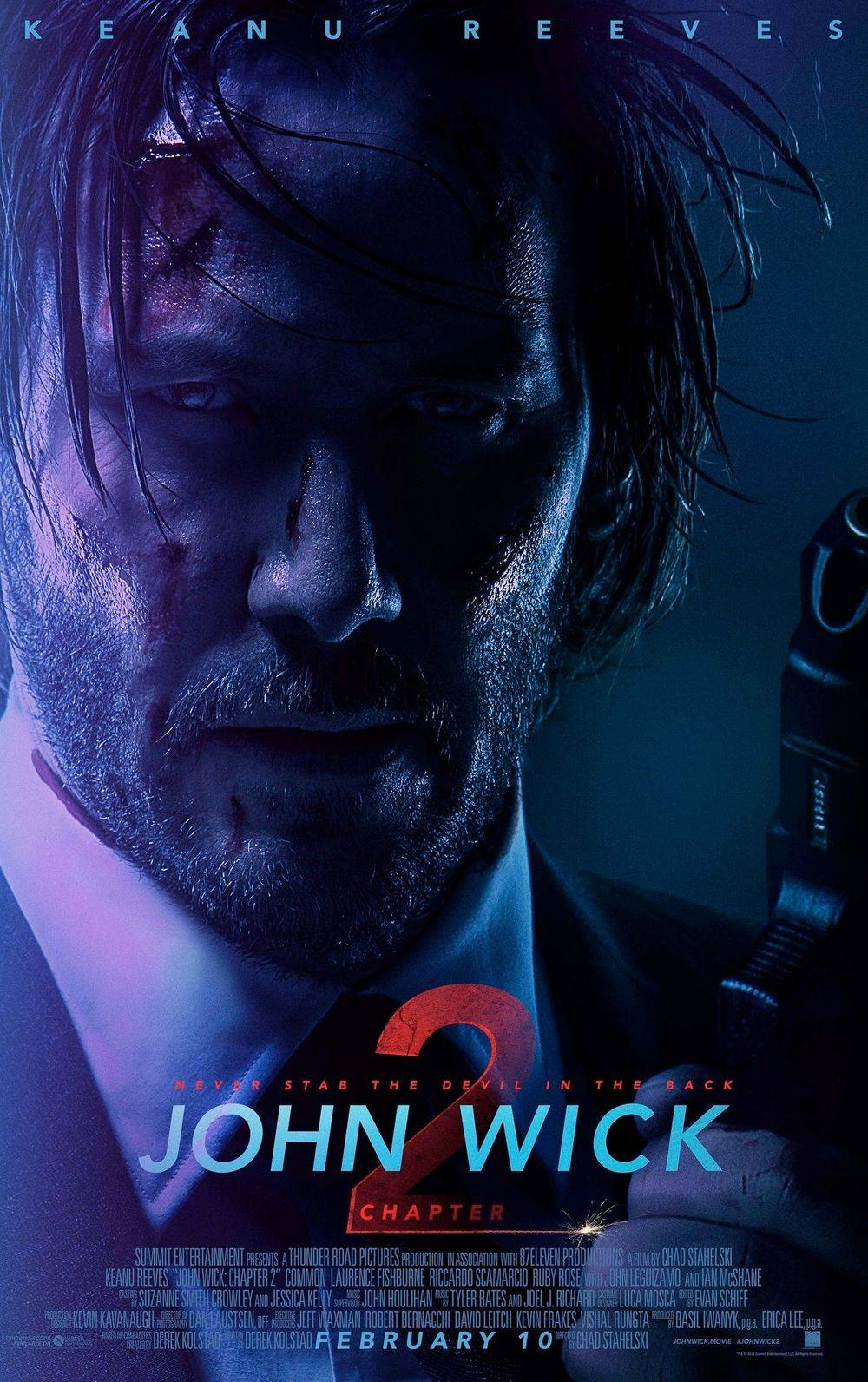 Movie poster for John Wick 2 starring Keanu Reeves