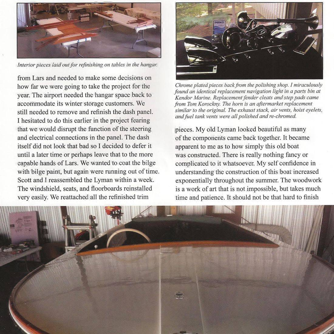 Lyman lapstrake restoration Clinker magazine