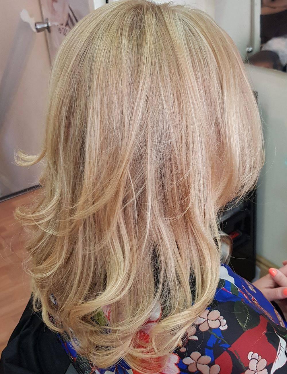 Highlights colour work Temple Holborn Strand London Hairdressers hair salon