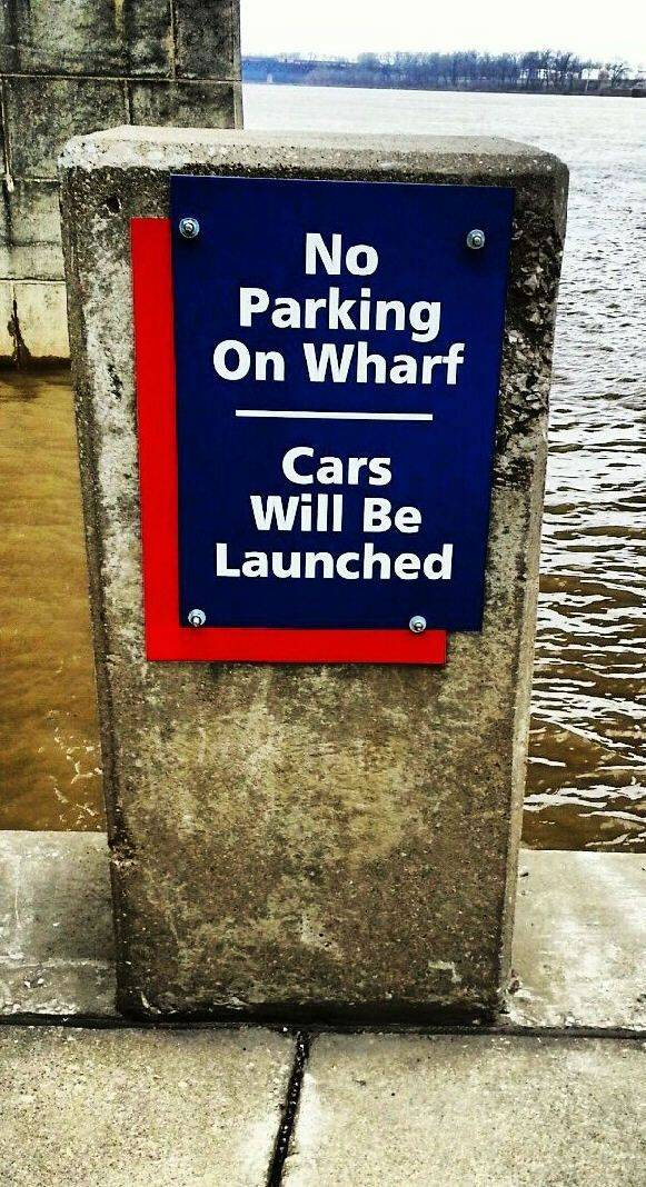 wharf, boating, sign, dock, fishing, funny, no parking