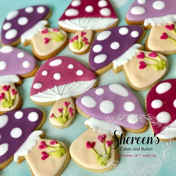 Iced Cookies Biscuits Toadstool
