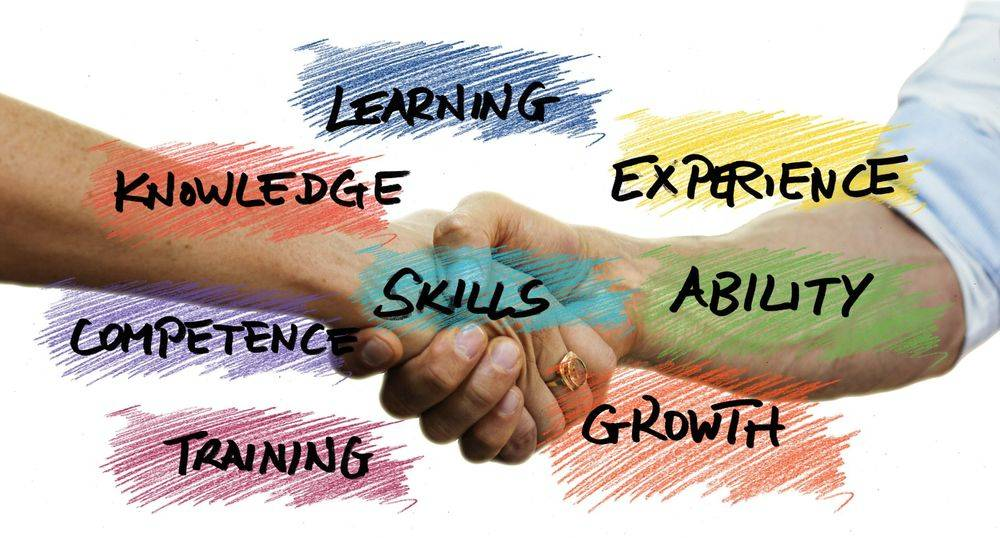Business Support Services Wokingham, Hands shaking with different skills