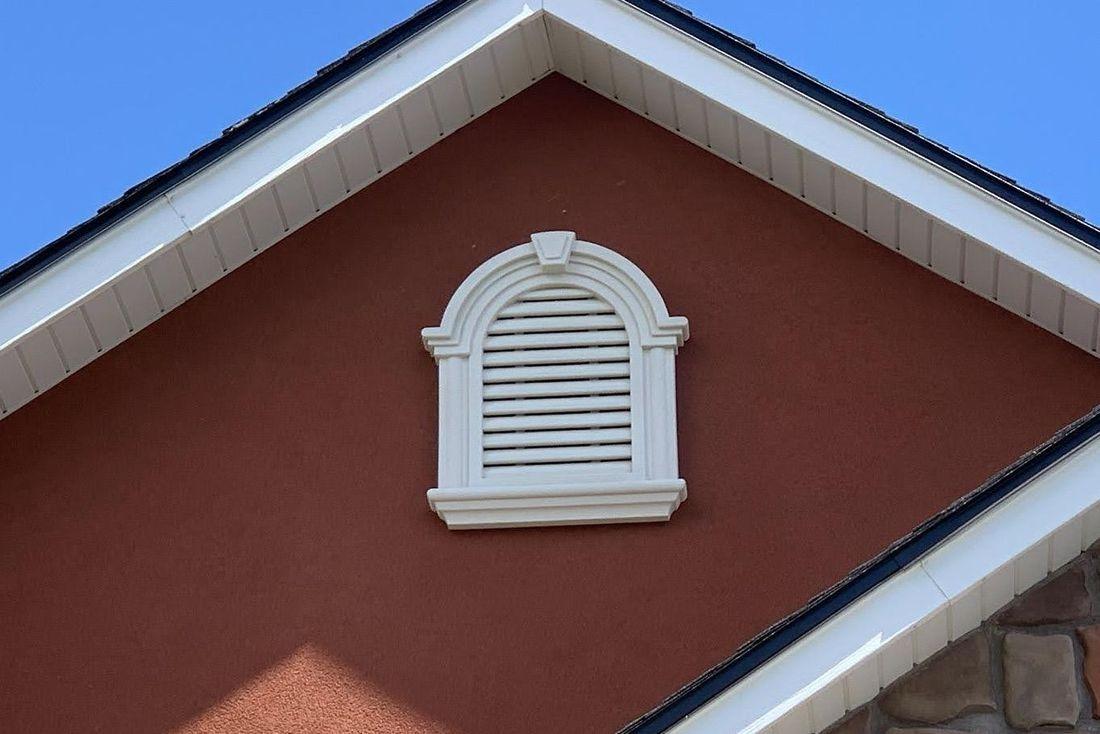 Stucco Octagon Gable Vent Trim Kit