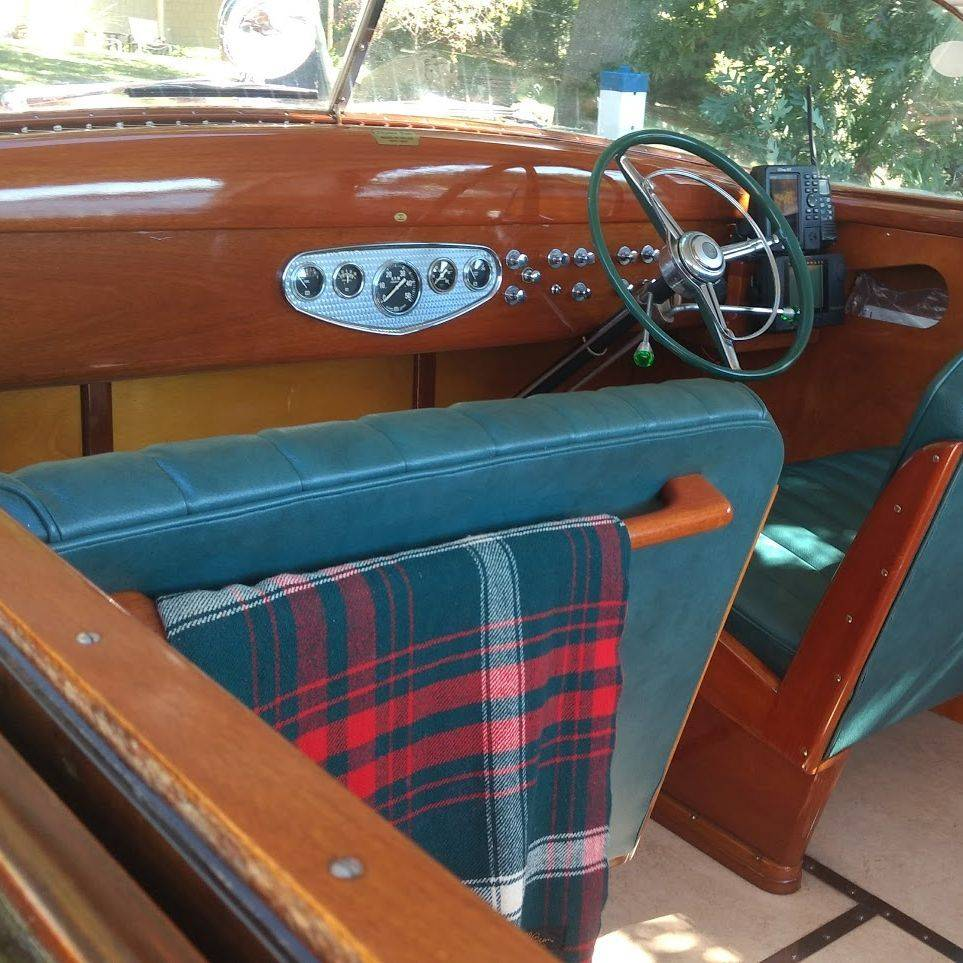24 Shepherd Hardtop wood boat for sale lake geneva