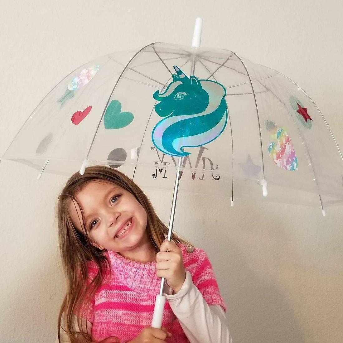 umbrella, personalized, custom, gift, cute, monogram, unicorn