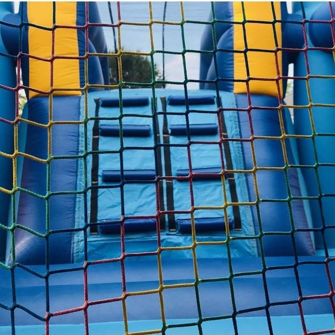 balloon bounce house waterslide combo
