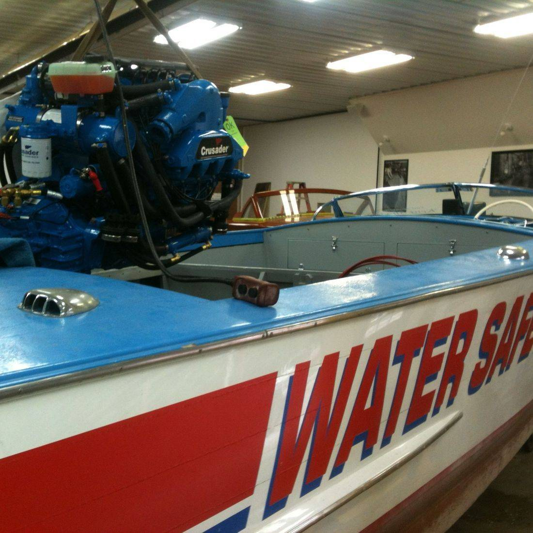 Bergersen Boat Co. repowering Water Safety Patrol Boat 1