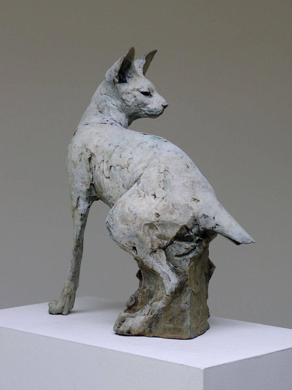 Bronze sculpture. Egyptian Cat.