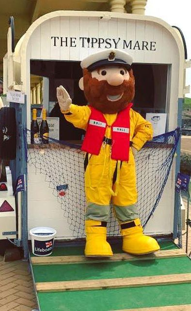 Person in full costume of RNLI Lifeboat crew member