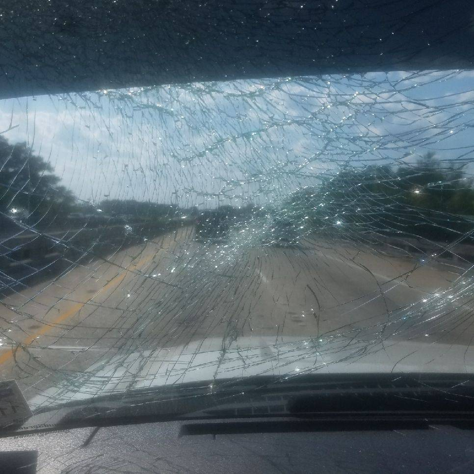 Shattered windshield replacement