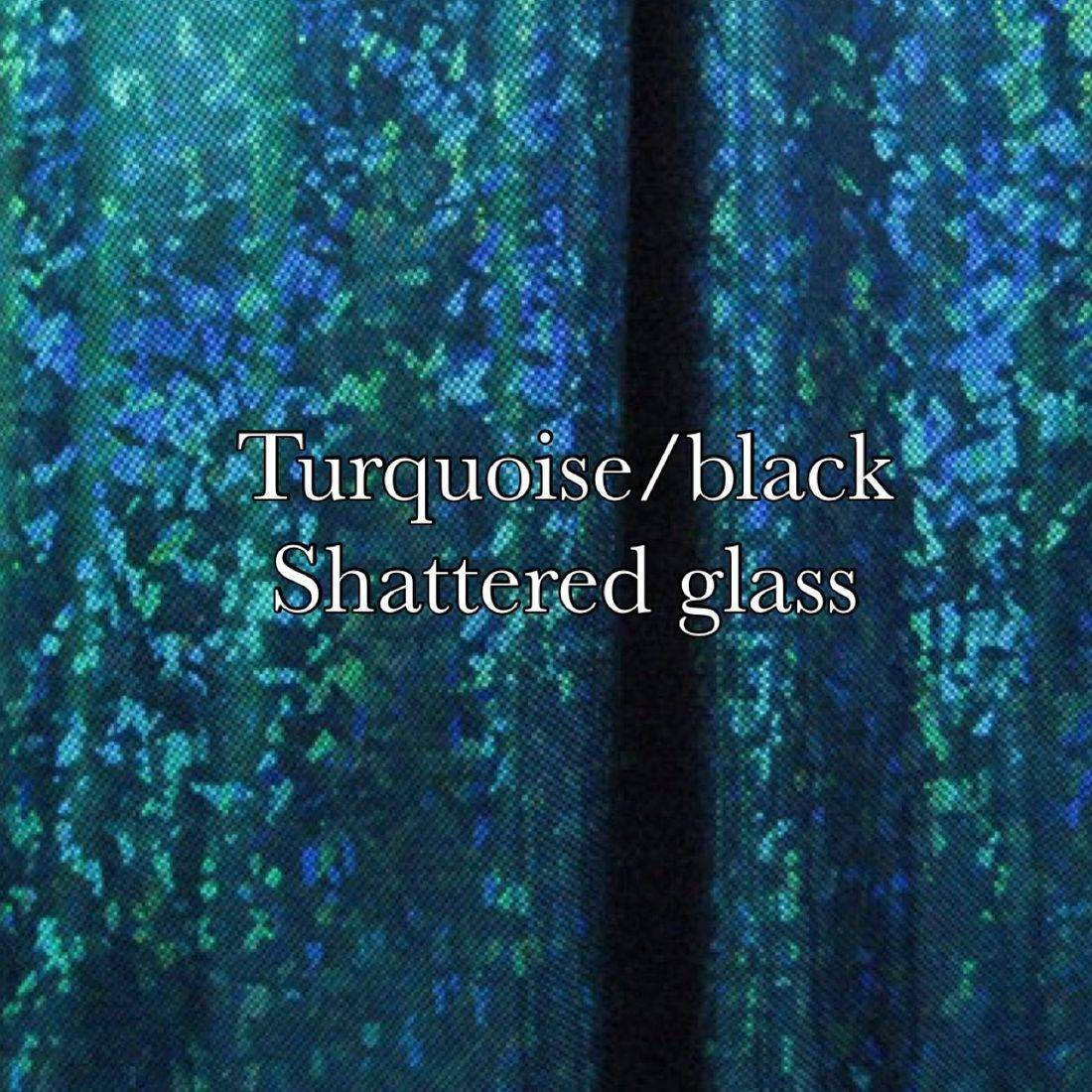 Turquoise black shatter glass