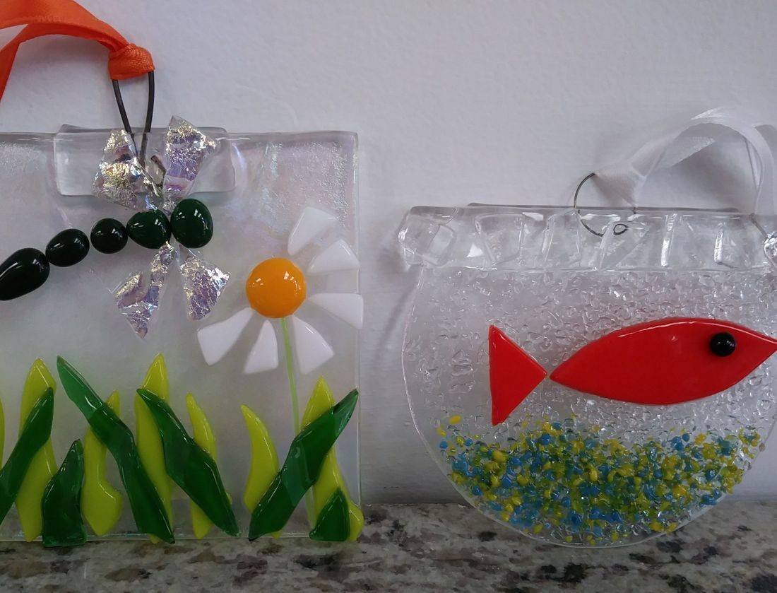 Sun Catcher Birthday Party Fused Glass Handmade Create