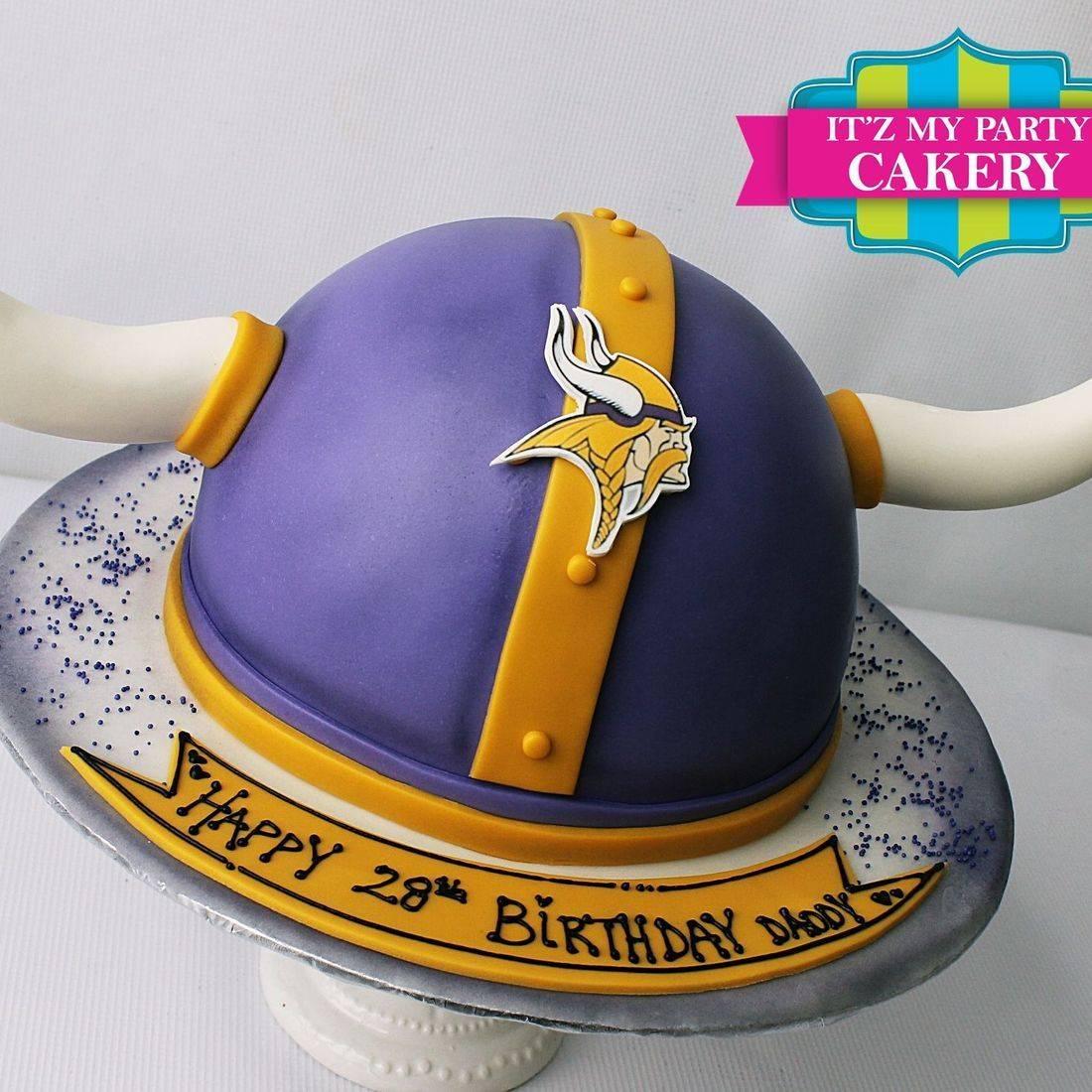 Vikings Helmet Cake Carved Dimensional Cake Milwaukee