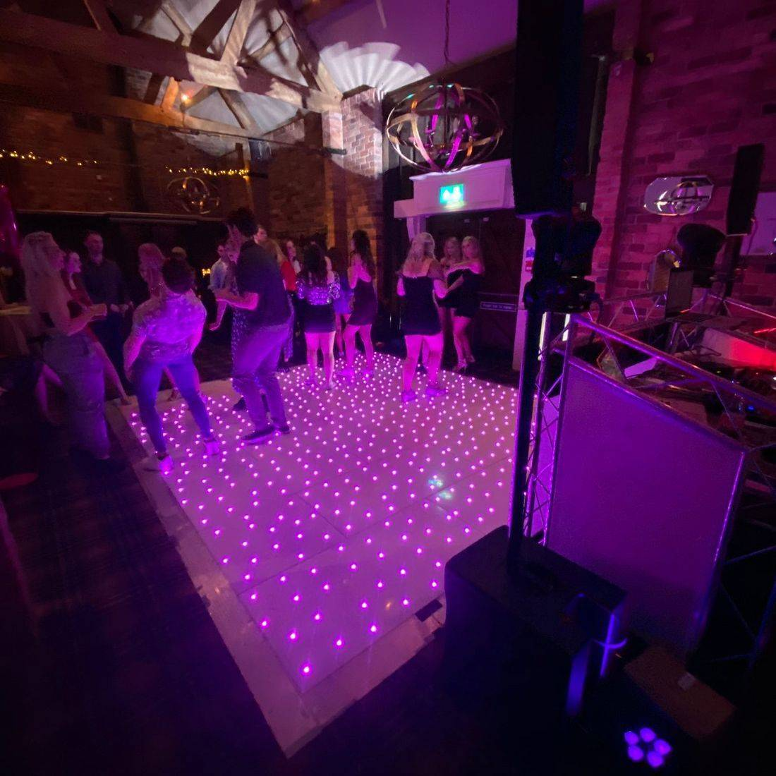 LED Dancefloor & Wedding DJ The  Mill Barns