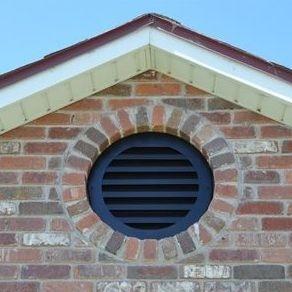 Black round aluminum gable vent