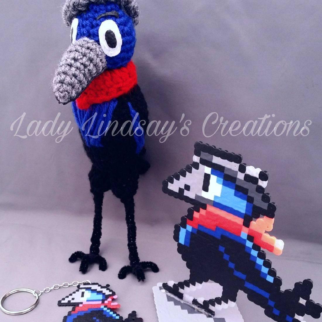 AHO, Malikali Shabazz, Art of Malikai Shabazz, Shabazz, Art, Artie, Bird, Amigurumi, plush, doll, keychain, pixel, pixel art, pixel sprite, handmade, craft, fiber art, shop small, nerd, geek, otaku, kawaii