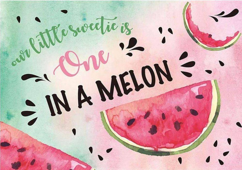 One in a Melon Party Backdrop