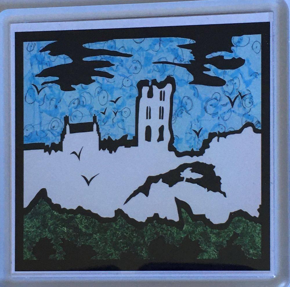 Silhouette Castle Coaster