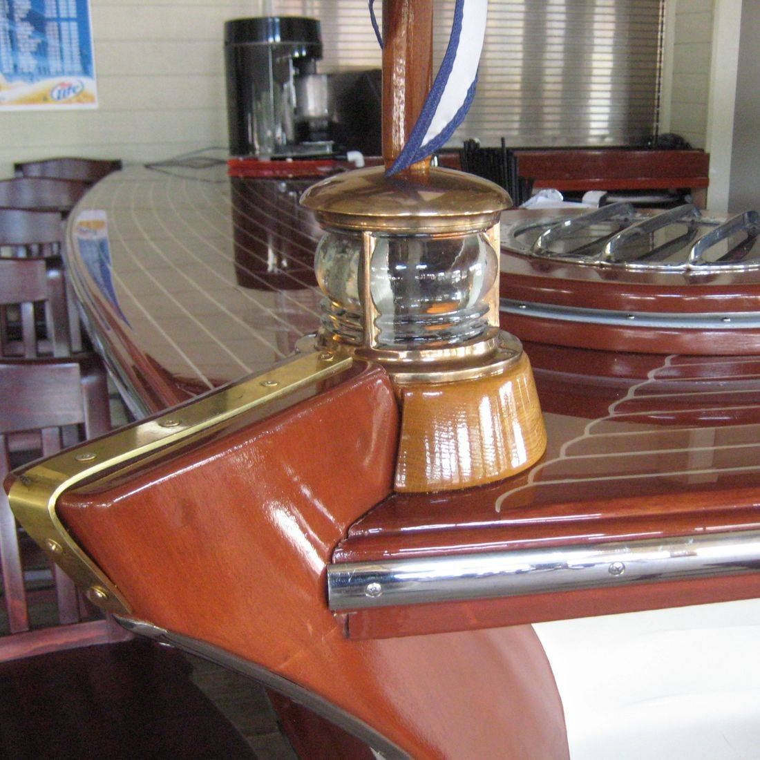 Custom boat bar at Abbey Harbor by Bergersen Boat