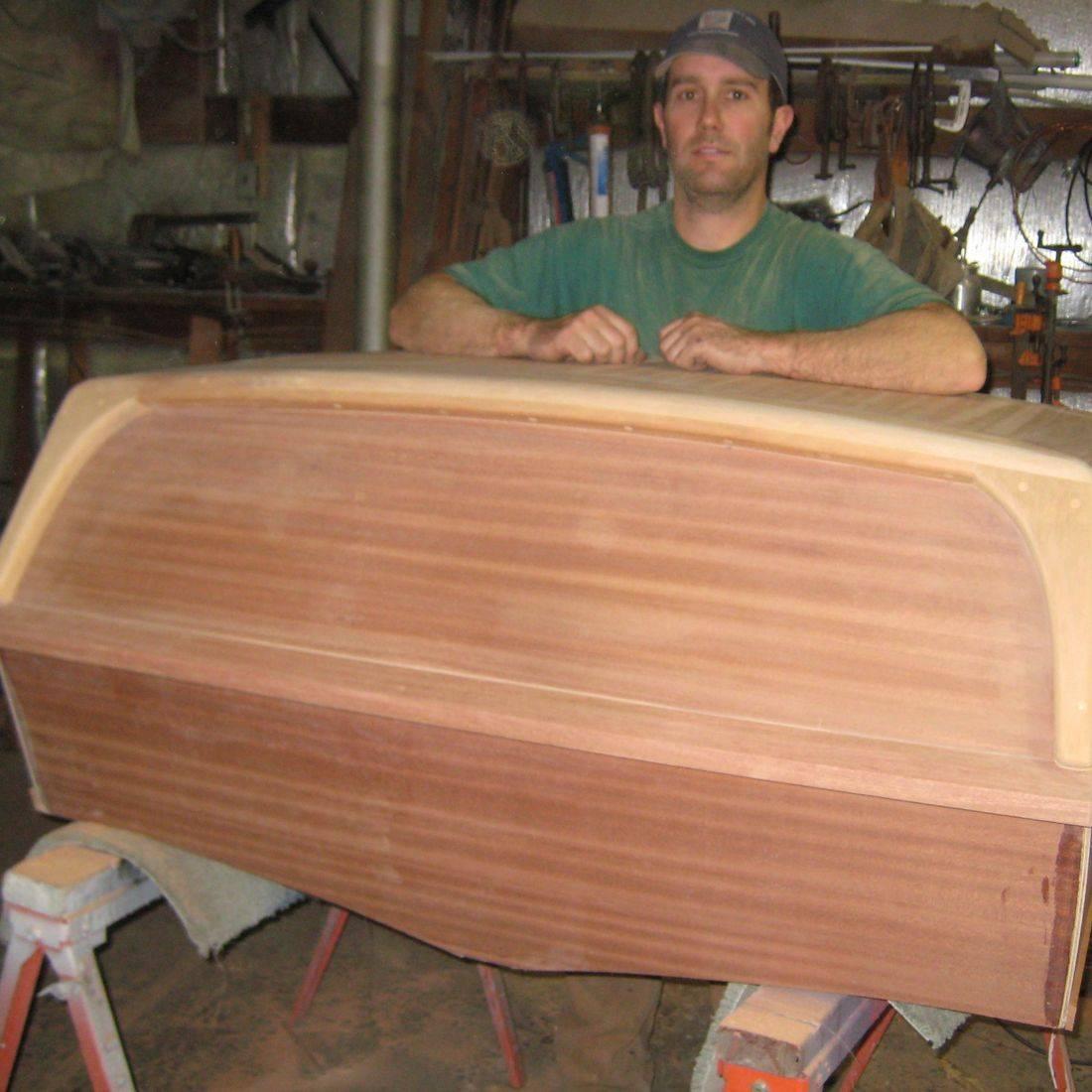 Bergersen Boat Co. custom Streblow transom wall plaque