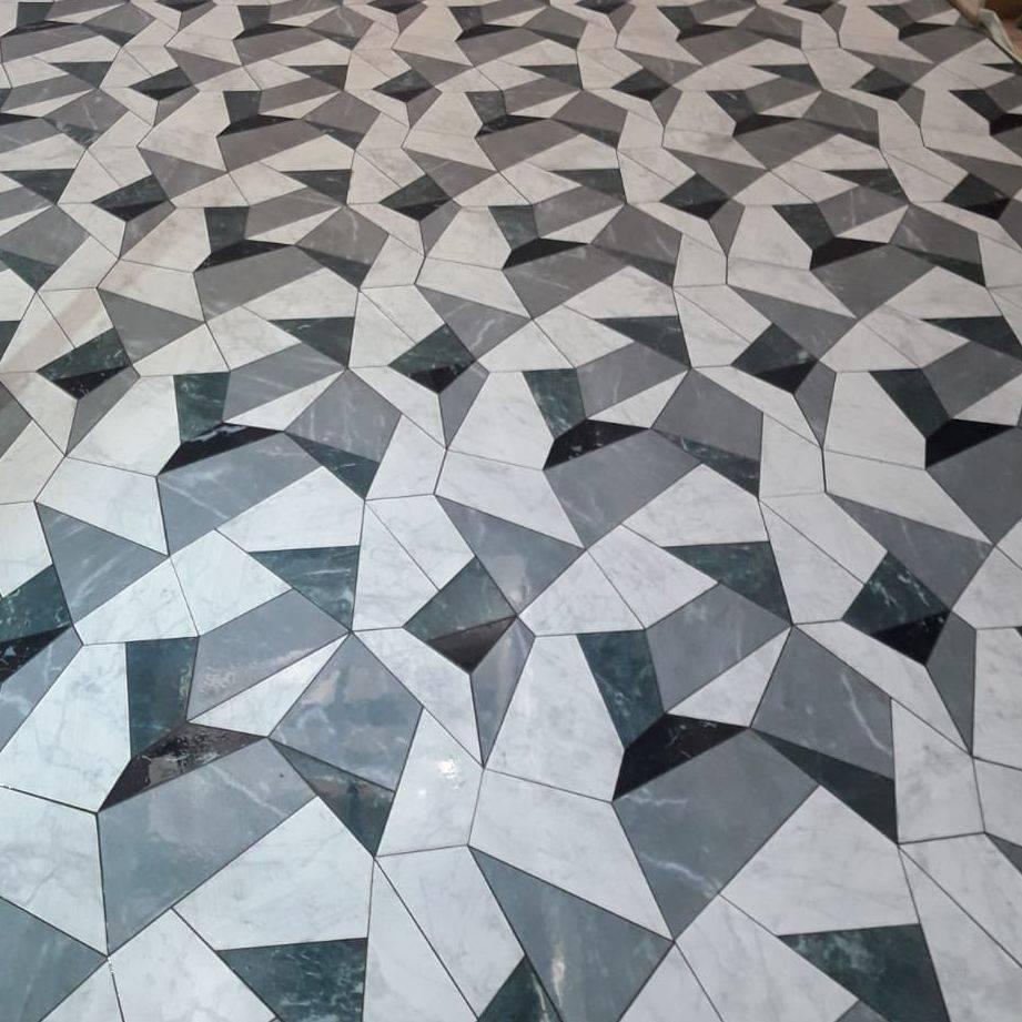 Laser cut 3d floor tiles