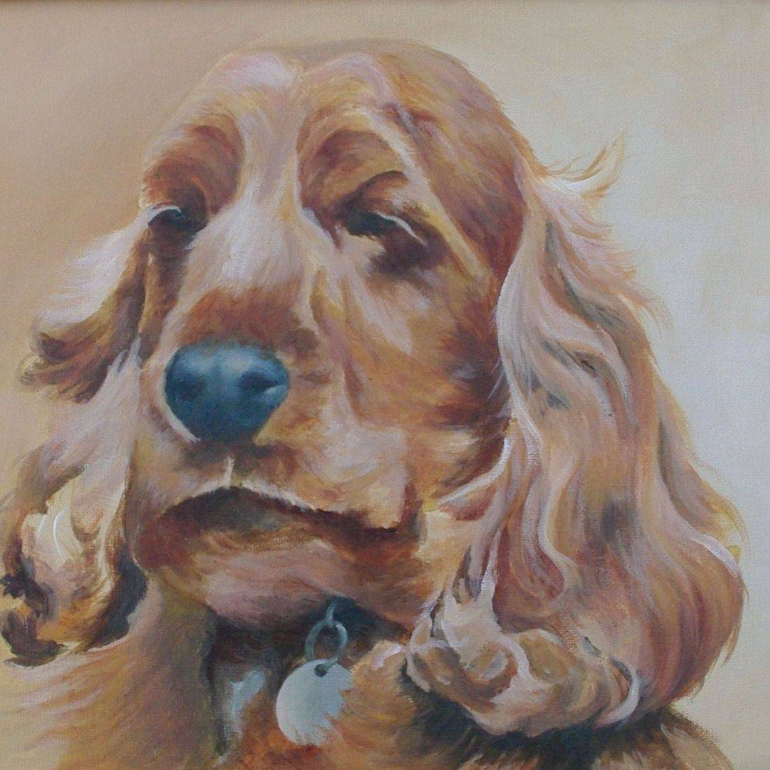acrylic pet portrait dog
