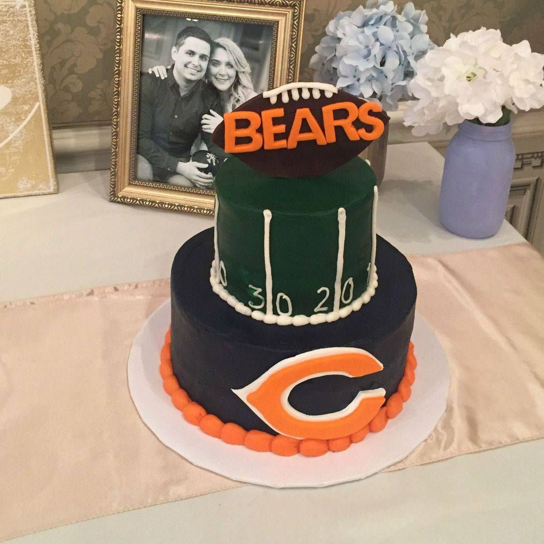 chicago bears football  birthday cake