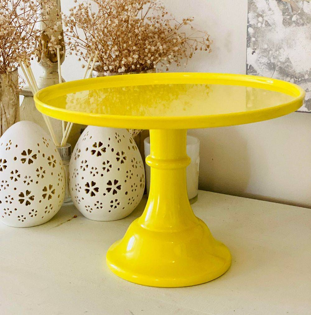 Yellow Cake Stand for Hire