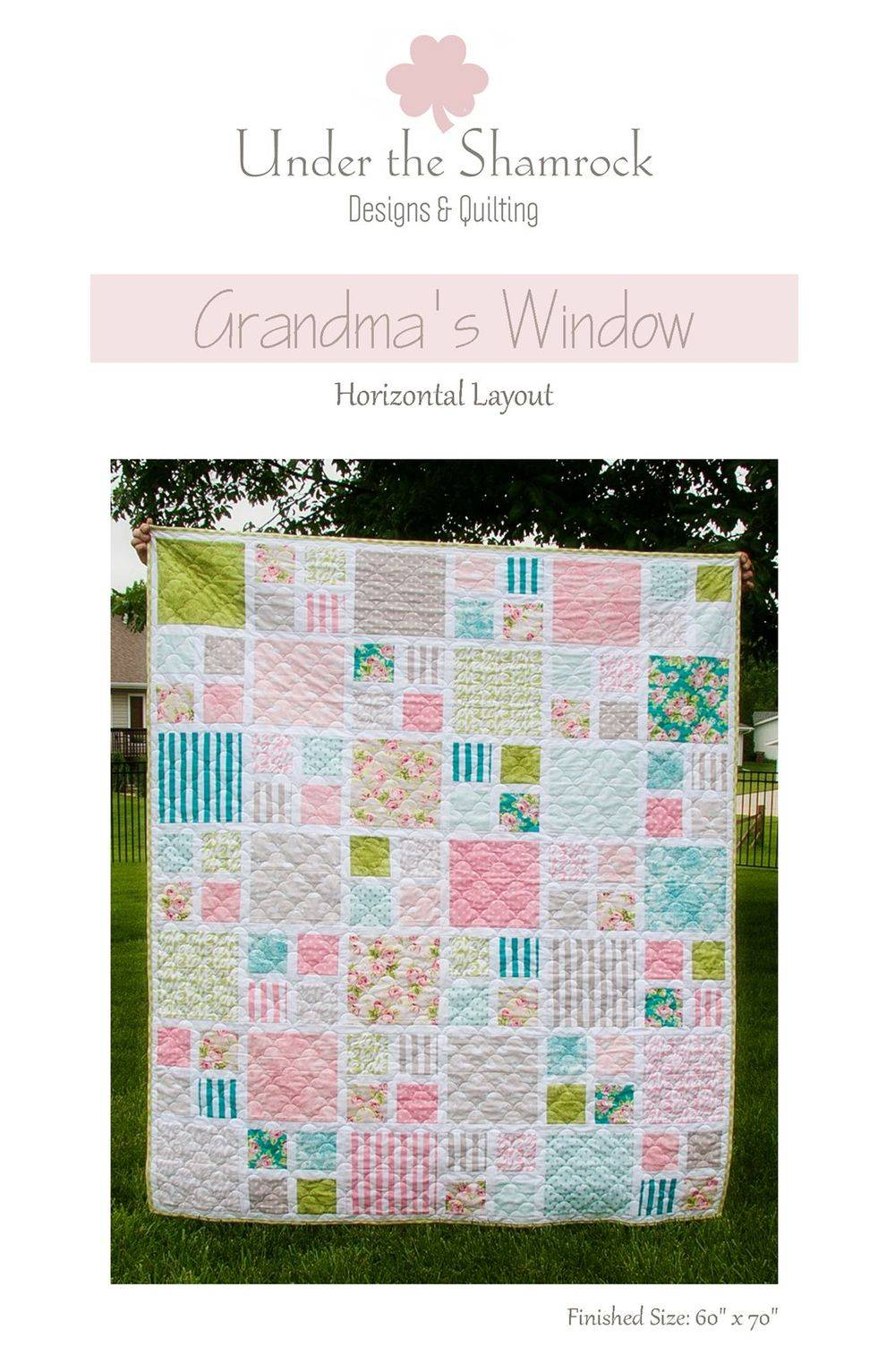 Grandma's Window Quilt Pattern Horizontal Layout