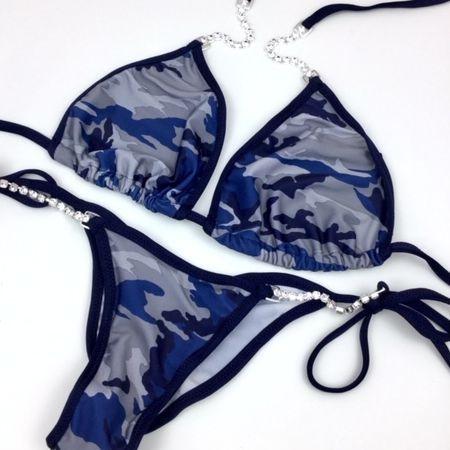 camo posing practice bikini