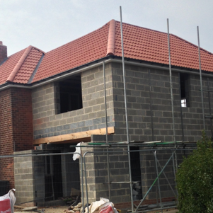 House extension in Middlesbrough under construction