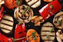 Vegan wedding grilled vegetables