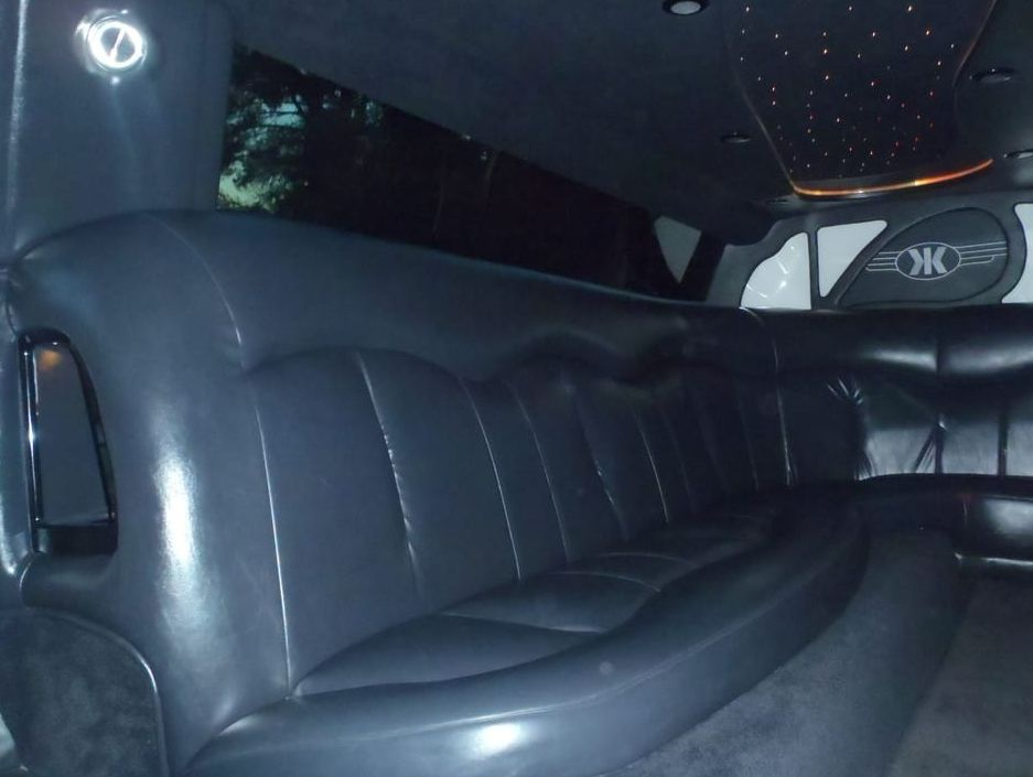 The inside view of an 8 Passenger Limousine.