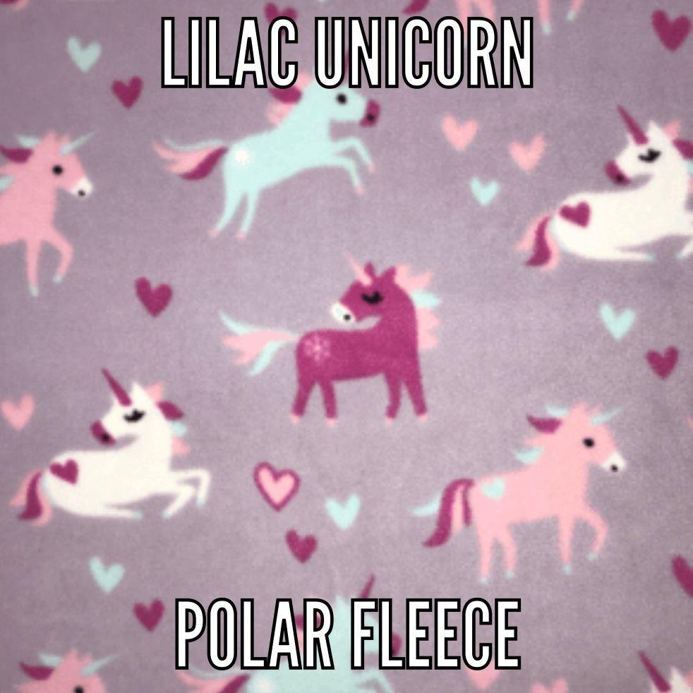 Lilac unicorn fabric