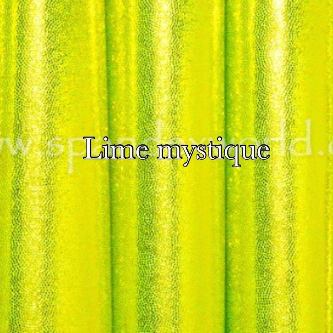 Fluorescent lime mist