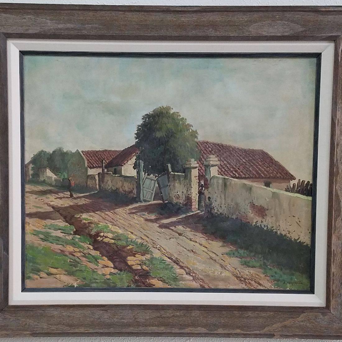 Sunset Framer oil painting framed