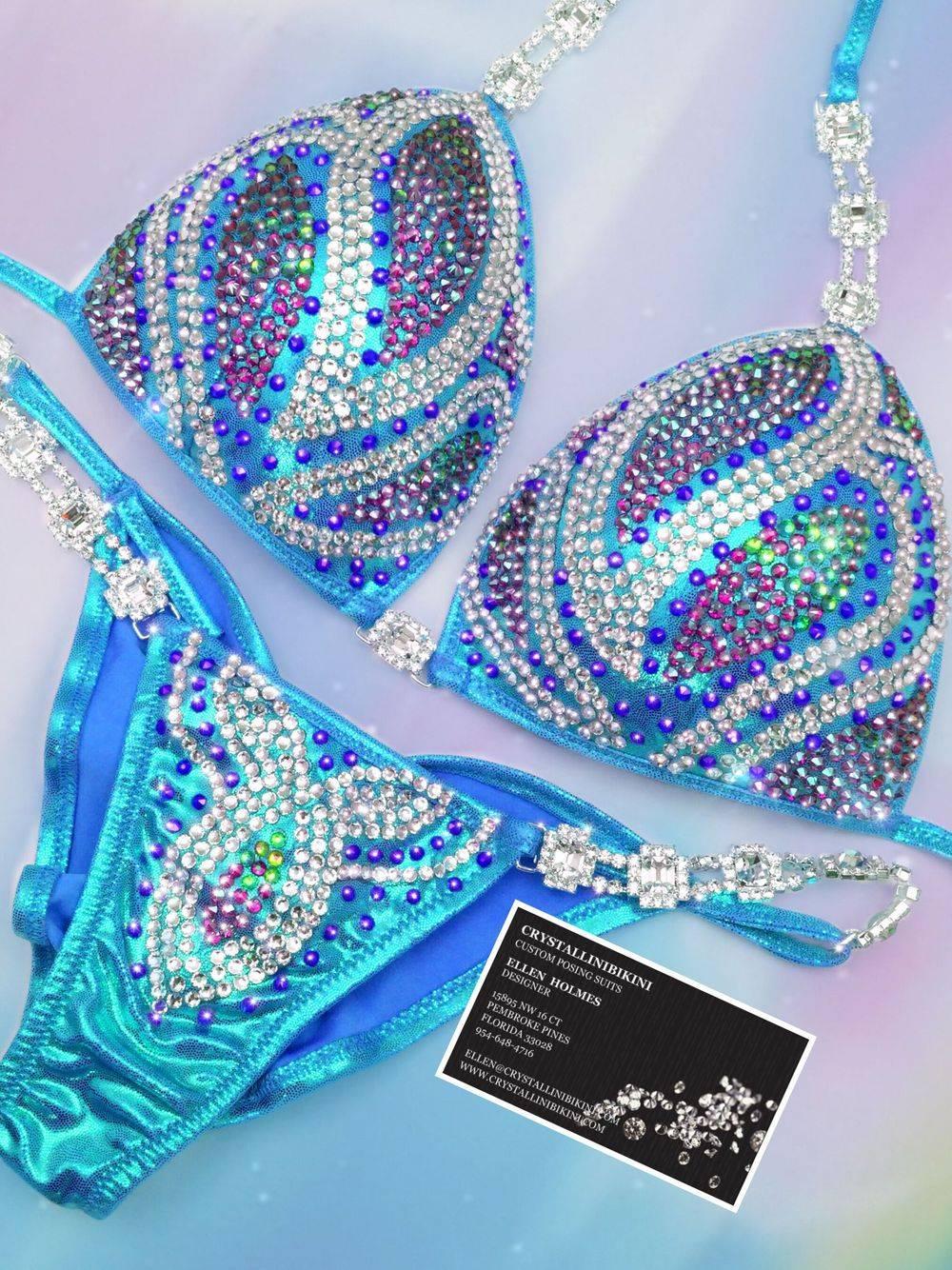 turquoise competition bikini
