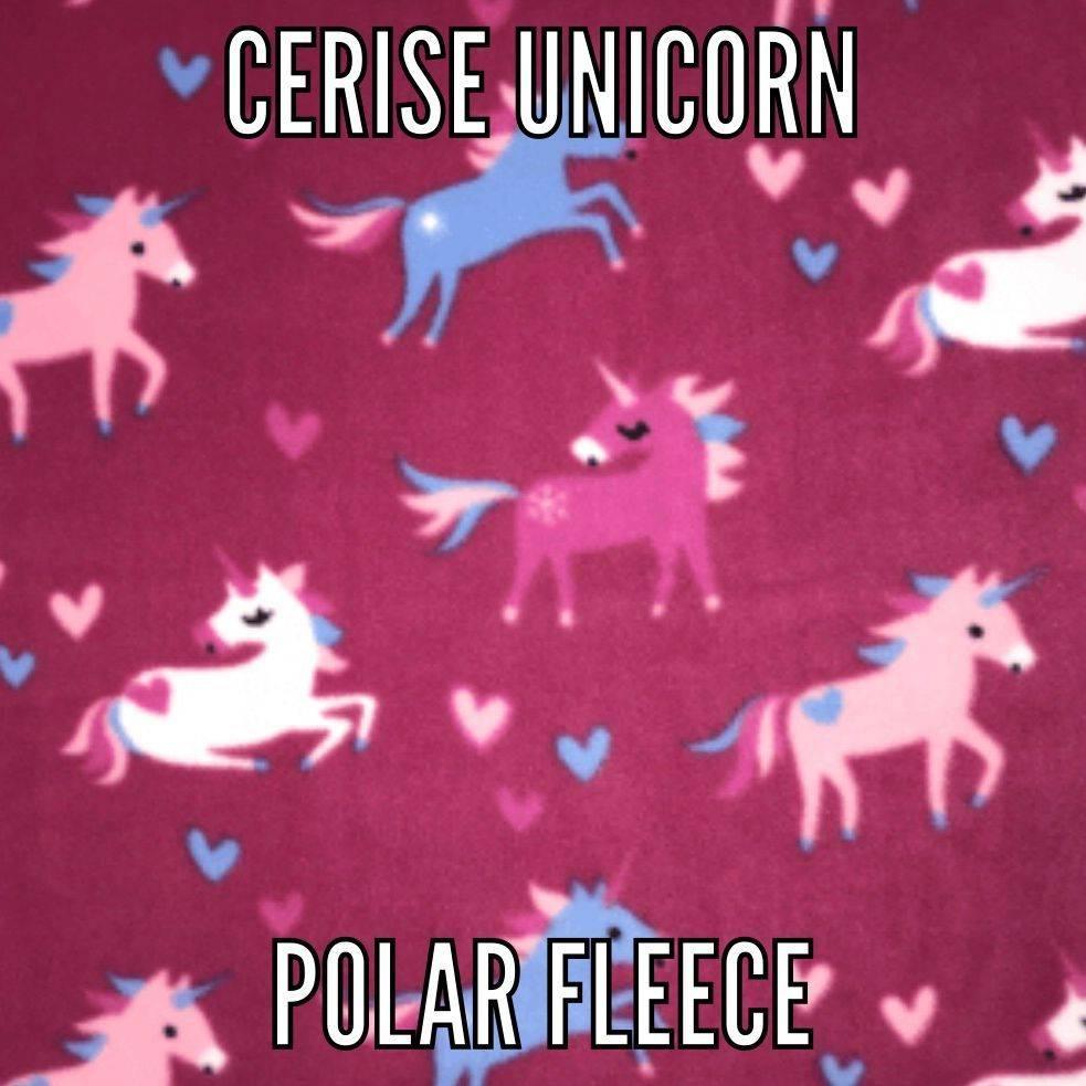 cerise unicorn fabric
