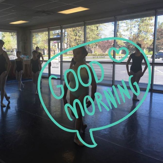 Our ballet students work hard on a Saturday morning at our north Spokane studio