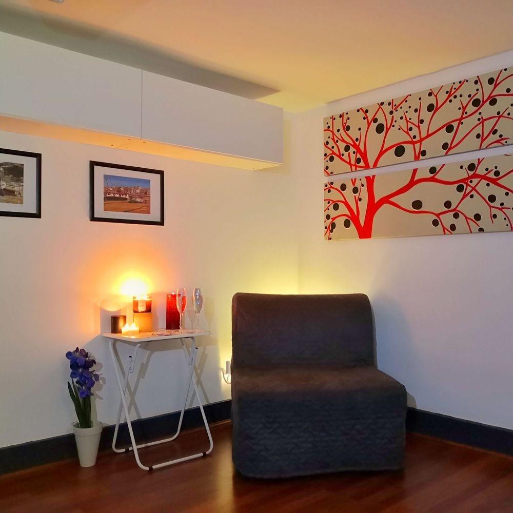 The relaxation corner at Facial Studio Brighton