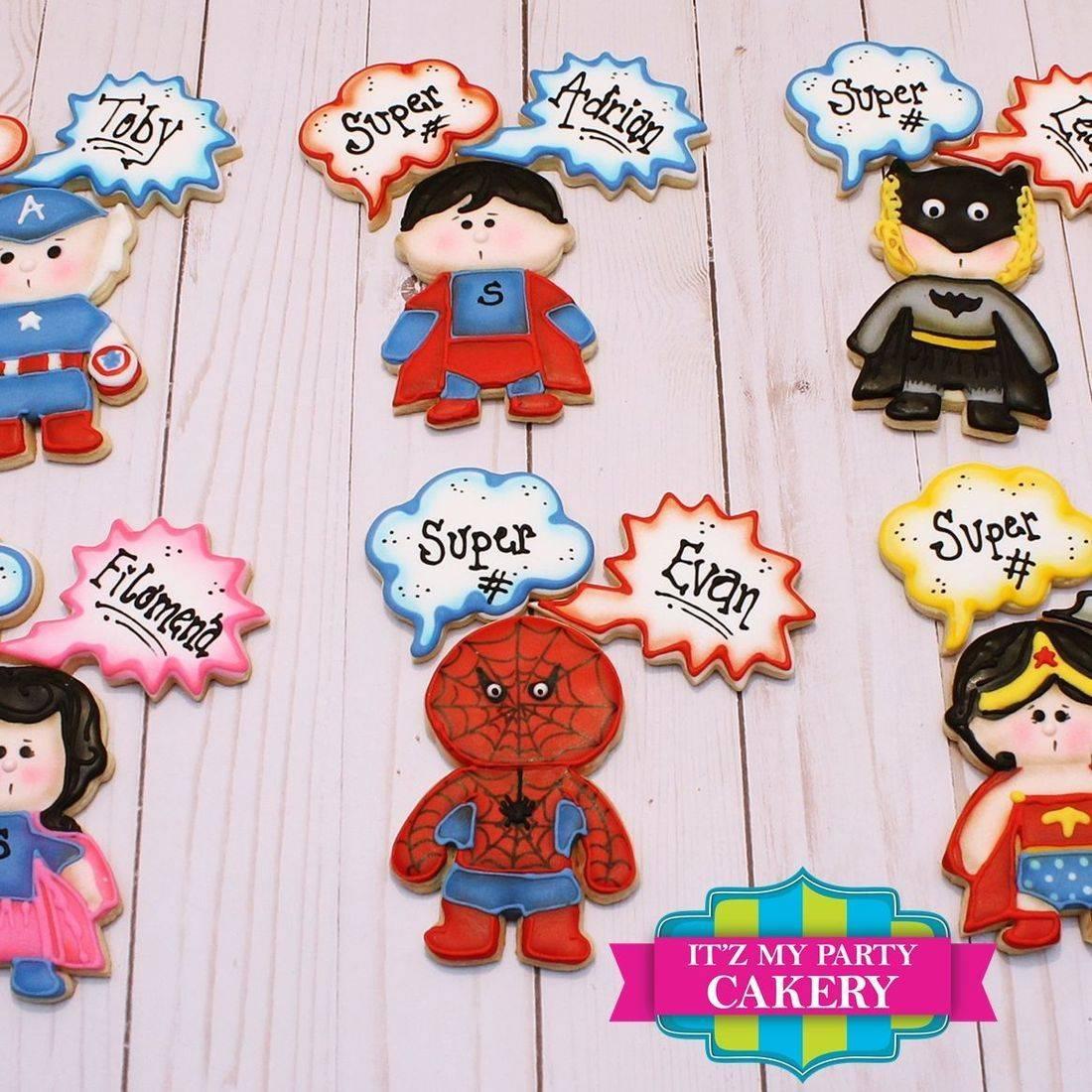 Super Hero Cookies Milwaukee