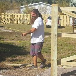 Bearded fence guy