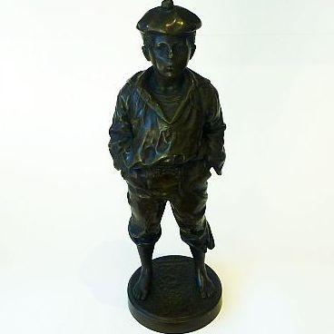 "Vaclav Bernard Szezeblewski bronze of ""Le Siffleur"" 1889 RARE"