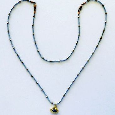 stunning WHITE GOLD necklace that doubles as a bracelet