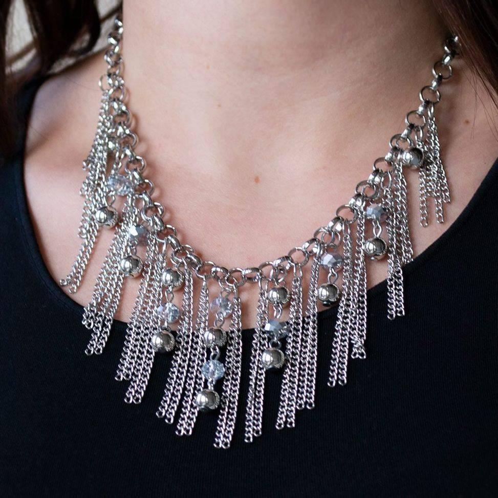 Paparazzi Ever Rebellious Silver Necklace set