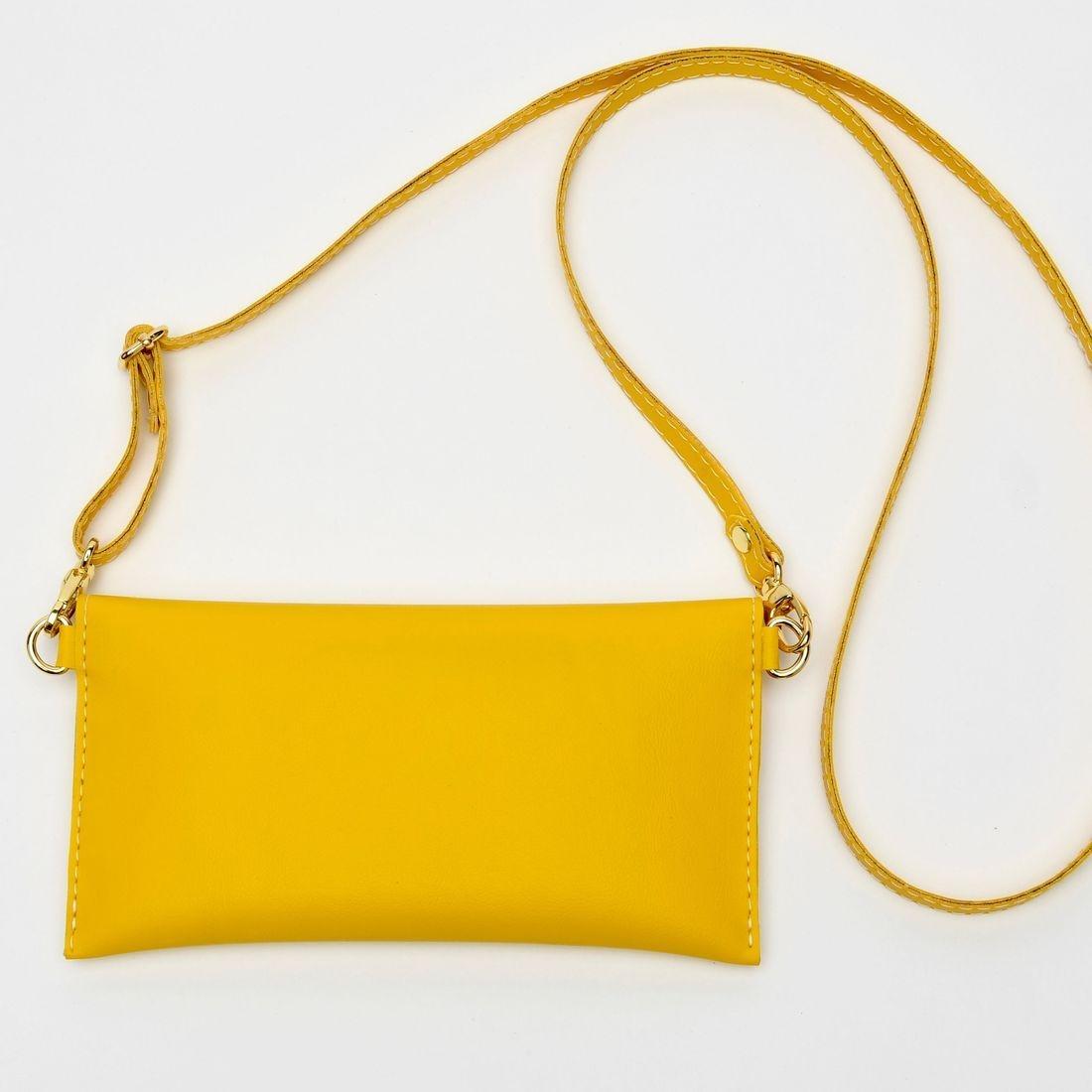 yellow crossbody bag, leather handbag, iPhone 7 case, small yellow purse