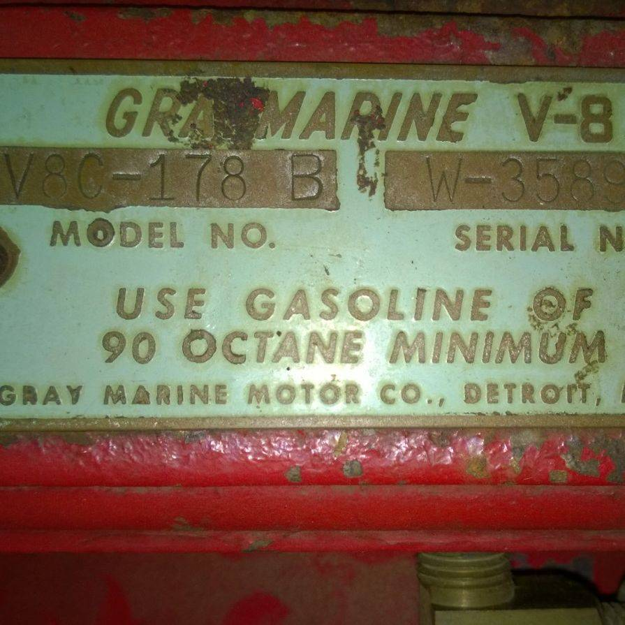 Gray marine engine Bergersen Boat